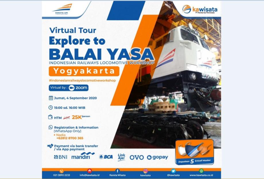 PT KA Pariwisata Adakan Virtual Tour ke Balai Yasa © PT KA Pariwisata