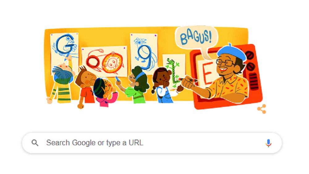 Google Rayakan 95 Tahun Tino Sidin